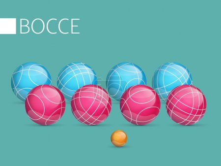 A set of balls to play bocce and petanque.