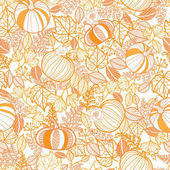 Vector orange ornate pumpkins seamless repeat pattern background Great for fall themed designs invitation fabric packaging projects