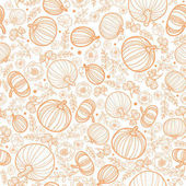 Vector orange falling pumpkins seamless repeat pattern background Great for fall themed designs invitation fabric packaging projects