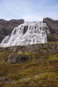 Mighty Dynjandi waterfall in the Westfjords of Iceland