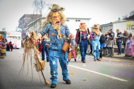 Traditional carnival parade in Luzern