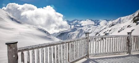 Stunning view to Austrian Alps in famous Zillertal...
