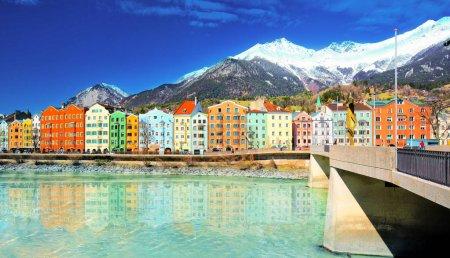 Cityscape in Innsbruck city center