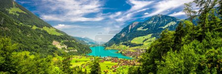 Photo for Lake Lungern with Swiss Alps, Switzerland - Royalty Free Image