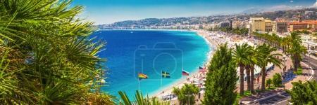 Beach promenade in city center of Nice