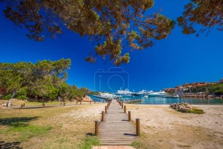 Coastline promenade at Porto Cervo town