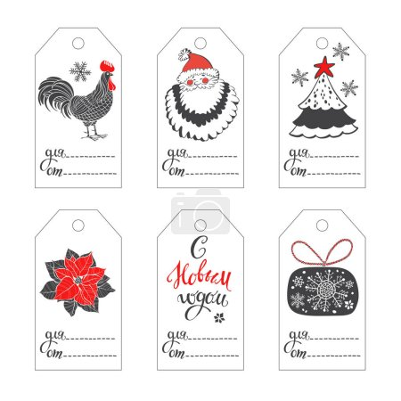 Collection of New Year's  tags.