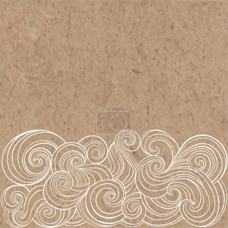 Illustration for Seamless pattern with waves, vector illustration - Royalty Free Image
