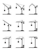 Different tower cranes
