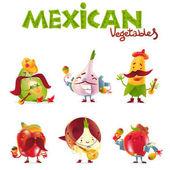 """Постер, картина, фотообои """"Мексиканские растительные Персонажи игры на музыкальных инструментах и весело"""""""