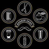 vector flat barber shop tools icon