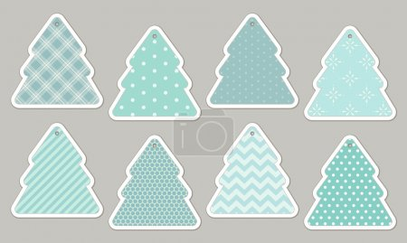 blue cute trees tags