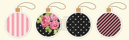 colored cute balls tags