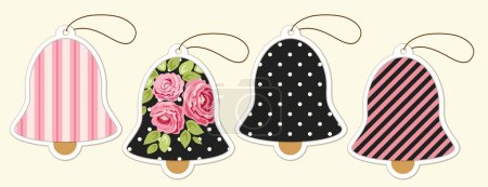 colored cute bells tags