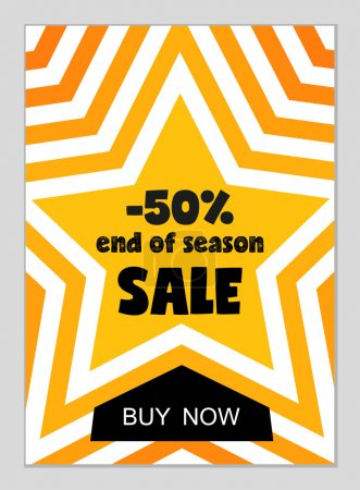 sale website poster in flat design style.