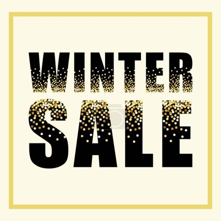 Festive luxury black WINTER SALE letters