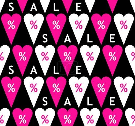 Sale seamless pattern with percent symbols