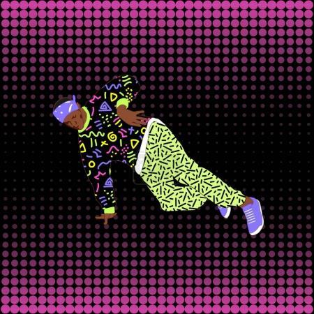 80s style street break dancer