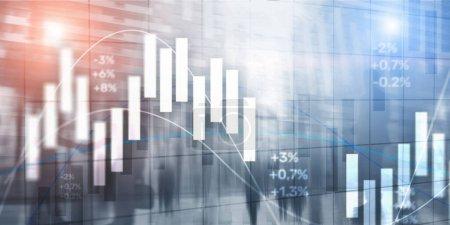 Photo pour Graphique de trading boursier et graphique de chandelier. Trading Contexte de l'entreprise - image libre de droit