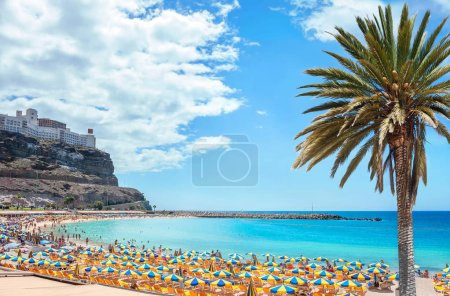 Famous beach of Amadores. Gran Canaria, Canary isl...