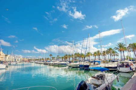 Photo for Puerto Marina in Benalmadena. Costa del Sol, Malaga province, Andalusia, Spain - Royalty Free Image