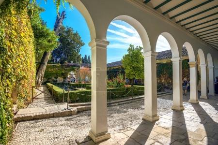 Beautiful courtyard of Alhambra palace