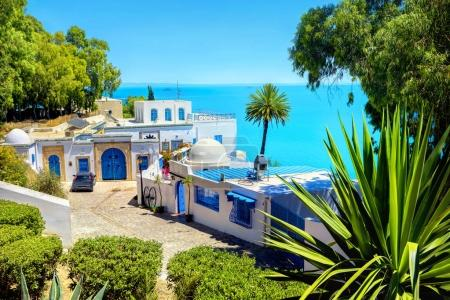 View of seaside resort  Sidi Bou Said. Tunisia, North Africa