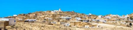 Panoramic view of  berber village Tamezret in Tunisia. North Afric