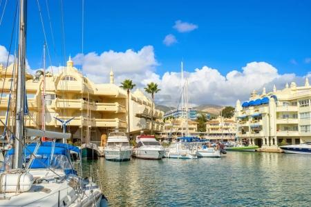 Scenic view of Puerto Marina in Benalmadena. Costa del Sol, Andalusia, Spain