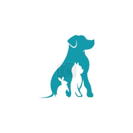 Illustration pour Amoureux des animaux inspirations logo, belles marques de logo pour animaux de compagnie, logo pour votre centre de soins des animaux - image libre de droit
