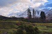 Winter landscape of Scottish nature