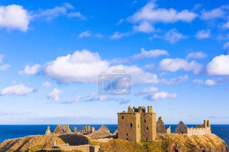 Ruins of Dunnottar Castle in Aberdeenshire, Scotland