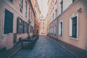 Riga, Latvia, streets in the old town, architecture, travel in t