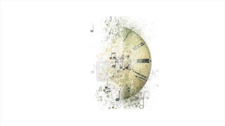 Photo pour Contexte financier. Fond musical abstrait. Horloge musicale - image libre de droit