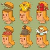Set of women's heads with open braincases