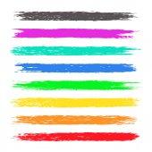 Colorful chalk stripes
