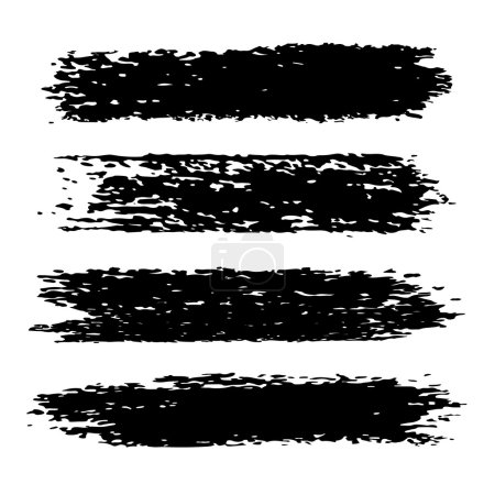 Grunge brush strokes