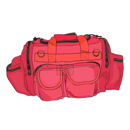 Color sketch sports bag