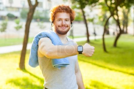 Showing fitness tracker