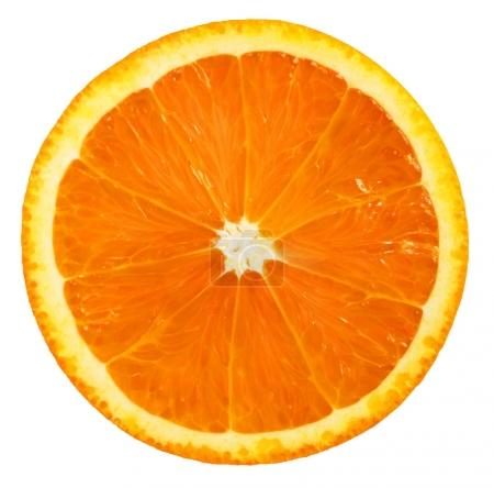 Orange fruit. Orange slice isolated on white background