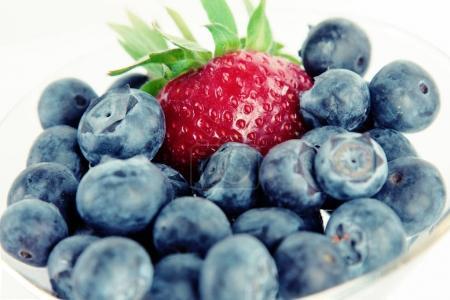 Organic blackberry and sweet strawbery