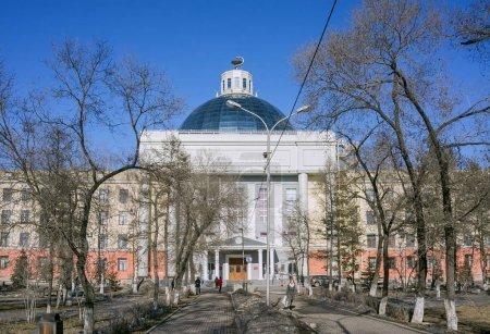 Photo pour KrasMGU a été fondée le 21 novembre 1942. Krasnoïarsk, Territoire de Krasnoïarsk, District fédéral de Sibérie, Russie - image libre de droit