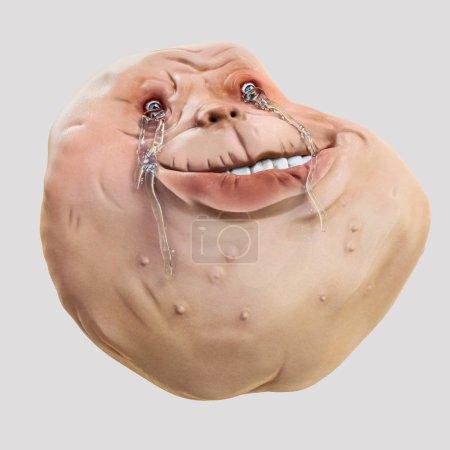 Photo pour Forever Alone Rage Face Guy. Internet mème illustration 3d - image libre de droit