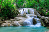Waterfall level 2, Erawan National Park, Kanchanaburi, Thailand