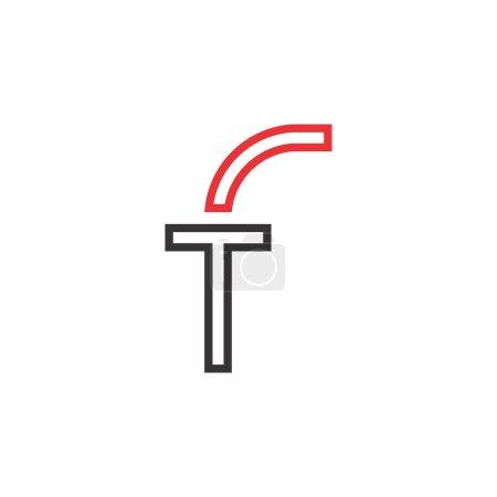 Illustration pour Vecteur de conception de logo de lettre FT ou TF - image libre de droit