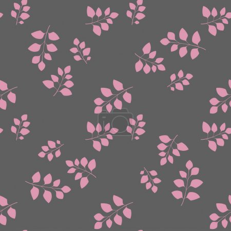 Illustration for Texture with flowers and plants. Floral ornament. Original flowers vector pattern. - Royalty Free Image