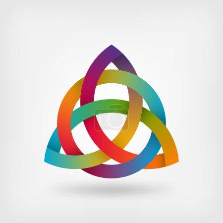 triquetra symbol in rainbow colors