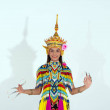 The beautiful woman wearing Thai Tradition souther...