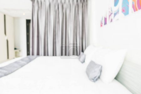 Abstract blur and defocused bedroom interior