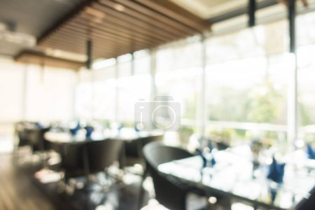 Abstract blur and defocused coffee shop cafe and restaurant